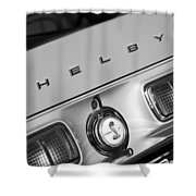 1968 Shelby Gt500 Kr Fastback Rear Emblem - Taillights Shower Curtain