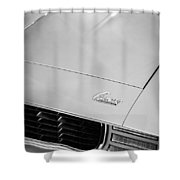 1969 Chevrolet Camaro 396 Rs Ss L89 Hood Emblem Shower Curtain