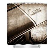 1969 Chevrolet Camaro Z-28 Emblem Shower Curtain by Jill Reger