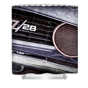 1969 Chevrolet Camaro Z28 Grille Emblem Shower Curtain