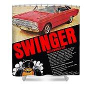 1969 Dodge Dart Swinger 340 Shower Curtain