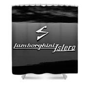 1969 Lamborghini Islero Emblem Shower Curtain