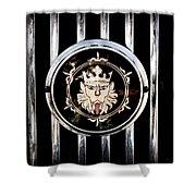 1969 Morgan Roadster Grille Emblem Shower Curtain