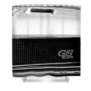 1970 Buick Gs Grille Emblem Shower Curtain