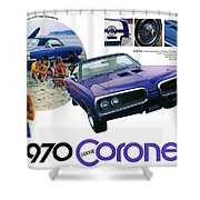1970 Dodge Coronet Super Bee Shower Curtain
