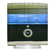 1970 Ford Mustang Boss 302 Fastback Taillight Emblem Shower Curtain