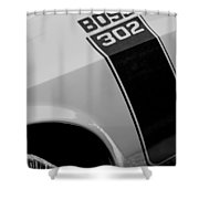 1970 Ford Mustang Sportsroof Boss 302 Emblem Shower Curtain
