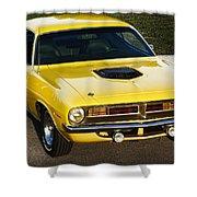 1970 Plymouth Hemi 'cuda Shower Curtain
