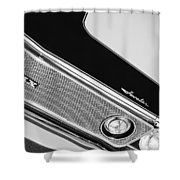 1971 Amc Javelin Amx Grille Emblem Shower Curtain