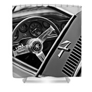 1971 Iso Grifo Can Am Steering Wheel Emblem Shower Curtain