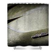1972 Chevrolet Corvette Convertible Stingray 454 Hood Emblem Shower Curtain