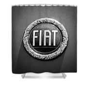 1972 Fiat Dino Spider Emblem Shower Curtain