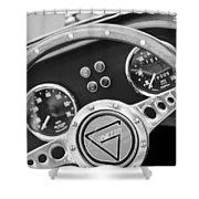 1972 Ginetta Steering Wheel Emblem Shower Curtain