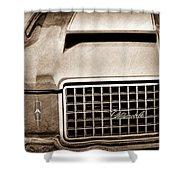 1972 Oldsmobile Grille Emblem Shower Curtain