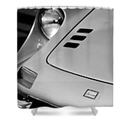 1973 Ferrari 246 Dino Gts Hood Emblem Shower Curtain