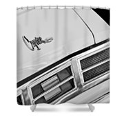 1975 Chevrolet Caprice Classic Convertible Taillights Emblem Shower Curtain