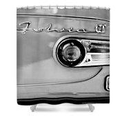 1975 Lancia Fulvia 1.3s Gt Berlina Taillight Emblem Shower Curtain