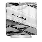 1980 Chevrolet Malibu Ss Cowl Induction Hood Emblem Shower Curtain