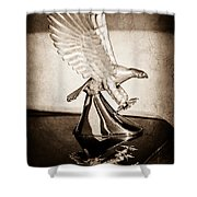 1986 Zimmer Golden Spirit Hood Ornament Shower Curtain
