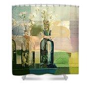 1-2-3 Bottles - J091112137 Shower Curtain