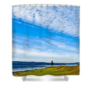 #2 At Chambers Bay Golf Course - Location Of The 2015 U.s. Open Tournament Shower Curtain