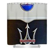 2005 Maserati Mc12 Hood Emblem Shower Curtain