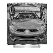 2006 Mitsubishi Eclipse Gt V6 Painted Bw Shower Curtain