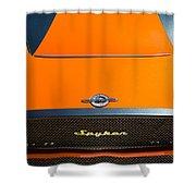 2009 Spyker C8 Laviolette Lm85 Grille Emblem Shower Curtain by Jill Reger