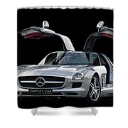 Mercedes Benz S L S  Gull-wing Shower Curtain