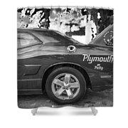 2010 Plymouth Superbird Bw  Shower Curtain