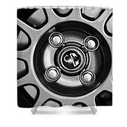 2013 Fiat Abarth Wheel Emblem Shower Curtain