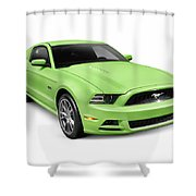 2013 Ford Mustang Gt 5.0 Sports Car Shower Curtain