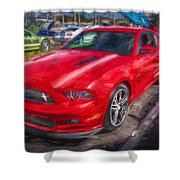 2013 Ford Mustang Gt Cs Painted  Shower Curtain