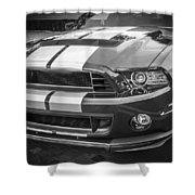 2013 Ford Mustang Shelby Gt 500 Bw Shower Curtain