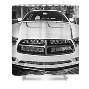 2014 Dodge Charger Rt Painted Bw Shower Curtain
