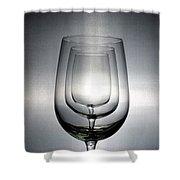 3 Wine Glasses Shower Curtain