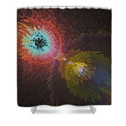 3d Dimensional Art Abstract Shower Curtain
