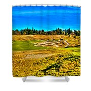 #4 At Chambers Bay Golf Course - Location Of The 2015 U.s. Open Championship Shower Curtain