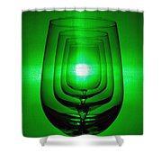 4 Wine Glasses Shower Curtain