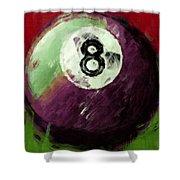 8 Ball Billiards Abstract Shower Curtain