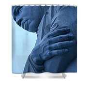 A Blue Martin Luther King - 2 Shower Curtain
