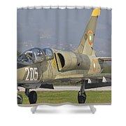A Bulgarian Air Force L-39 Albatros Shower Curtain