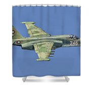 A Bulgarian Air Force Su-25 In Flight Shower Curtain