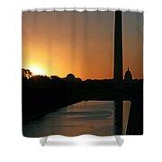 A Capitol Sunrise Shower Curtain
