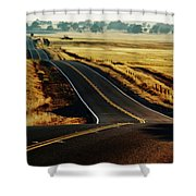 A Country Road In The Central Valley Shower Curtain