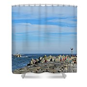 A Day At The Beach 2 Shower Curtain