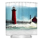 A Day At The Coast Shower Curtain