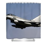 A Eurofighter Typhoon 2000 Multirole Shower Curtain