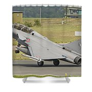 A French Air Force Rafale Jet Shower Curtain
