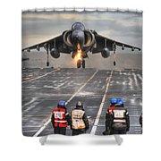 A Gr9 Harrier  Shower Curtain